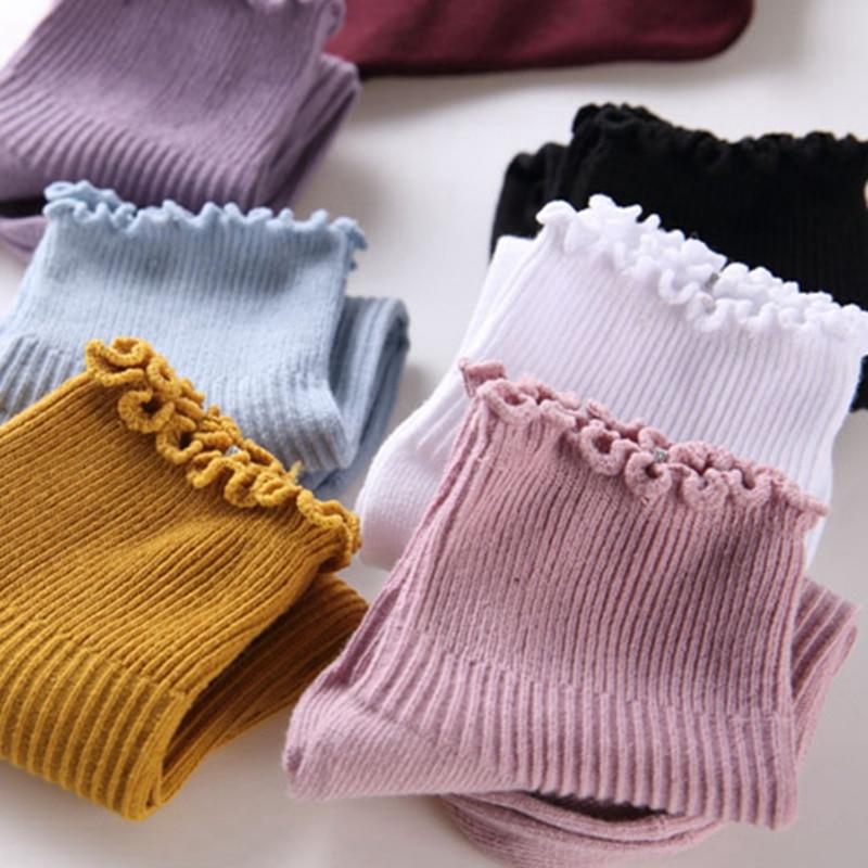 Fashion Lace Ruffles Soft Cotton Women Socks Top Quality Spring Summer Cute Socks Sweet Princess Girl Cozy Lovely Frilled Socks