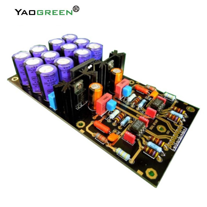 OPA2111KP Germany DUAL Circuit Attenuated RIAA HIFI MM Amplifier Board PCBA Turntables Phono Amplifier C2-003 aiyima mm moving magnetic head player board audio amplifier dual riaa phono amplifier board diy