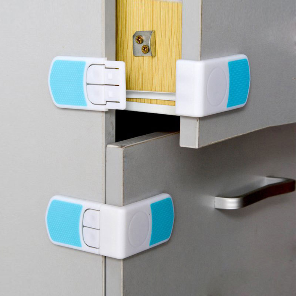 5Pcs/set Useful Cupboard Right Angle Locks Baby Safety Lock Refrigerator Toilet Door Closet Locker For Wholesale Drop Shipping