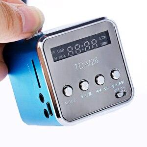 Image 2 - Rovtop mini receptor de rádio fm portátil, TD V26, digital, com tela lcd, alto falante estéreo, suporta cartão micro tf