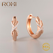 ROXI Charm Austrian Crystal Hoop Earrings Infinity Rhinestone Round Circle Earrings for Women Fashion Jewelry Wedding Earrings(China)