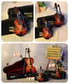 1/6 70cm boy Mini musical instrument mini violin decoration birthday gift bjd accessories