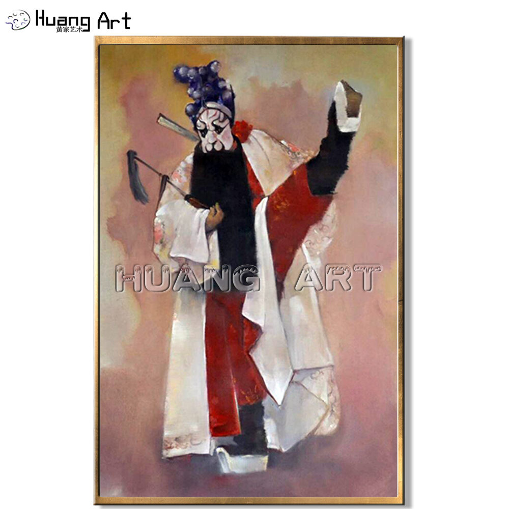 Best Price High Quality Impression Singing Opera Characters Wall Painting For Decor Peking Opera Figure Painting Unique Gift image