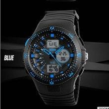 Factory waterproof military wrist led backlight analog digital sports man watch Clock Kids Gift Boys Children Fashion Electronic