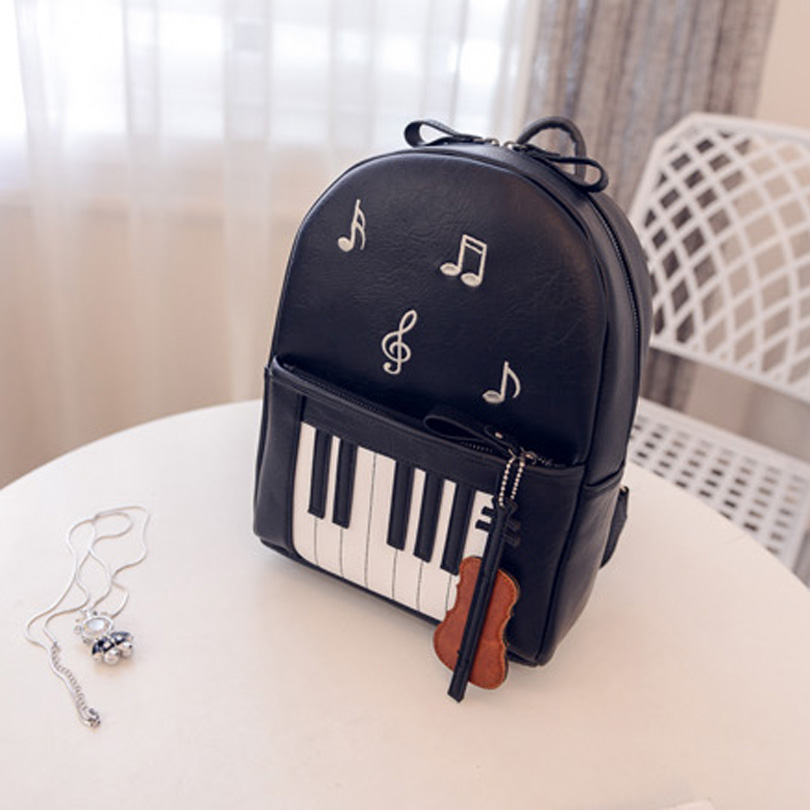 2017 New Fashion Piano Musical Printing Backpack Casual Backpacks for Teenage Girls Travel Students School Book Rucksack Mochila adam perlmutter piano for dummies