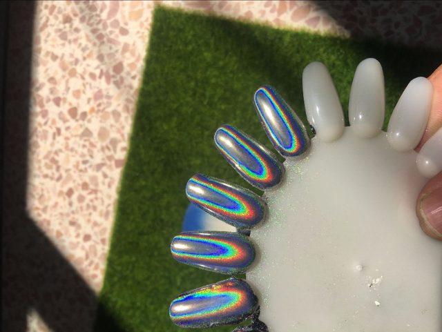 1g HOLOGRAPHIC POWDER Chrome Nail Powder Holographic Glitter Polish Laser Unicorn Sequins Pigment For Nails