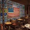Wallpaper For Walls 3 D European Retro Colorful Metal Plate Custom Mural Restaurant Car Shop Background