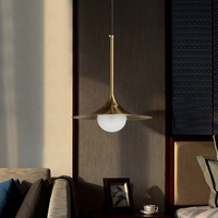 Nordic Modern LED Lamps Pendant Lamps Creative Glass Iron Cover LED Gold Gilt Dining Room Bedroom