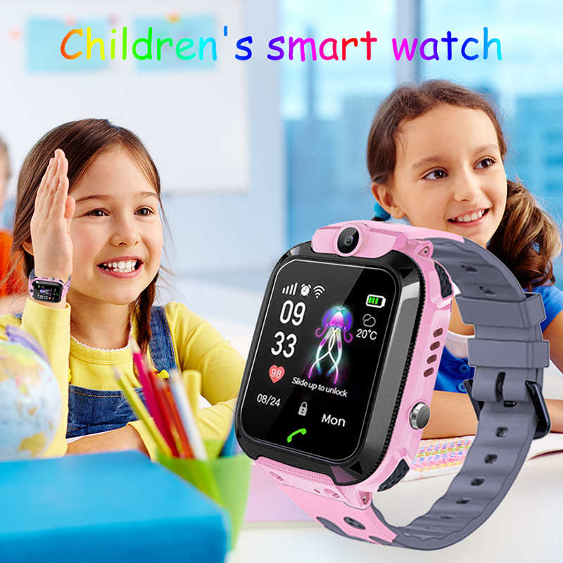 BANGWEI LBS tracker kids watch Camera  touch Screen SOS Call Location Baby clock Children Smart watches Q528 Y21 2G SIM card+Box