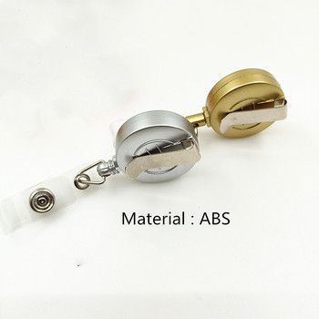 1 Set Aluminum Alloy Card Holder with ABS Retractable Badge Reel Pull ID Card Badge Holder 1