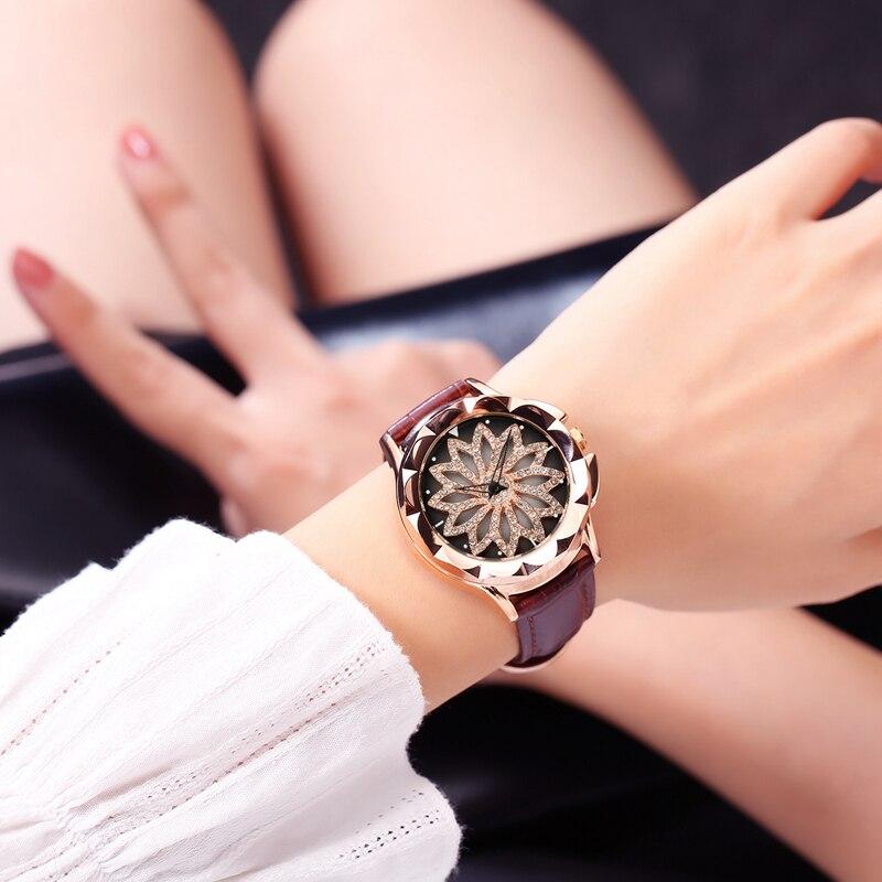 FUYIJIA վարդագույն ոսկե ժամացույցներ կին - Կանացի ժամացույցներ - Լուսանկար 3