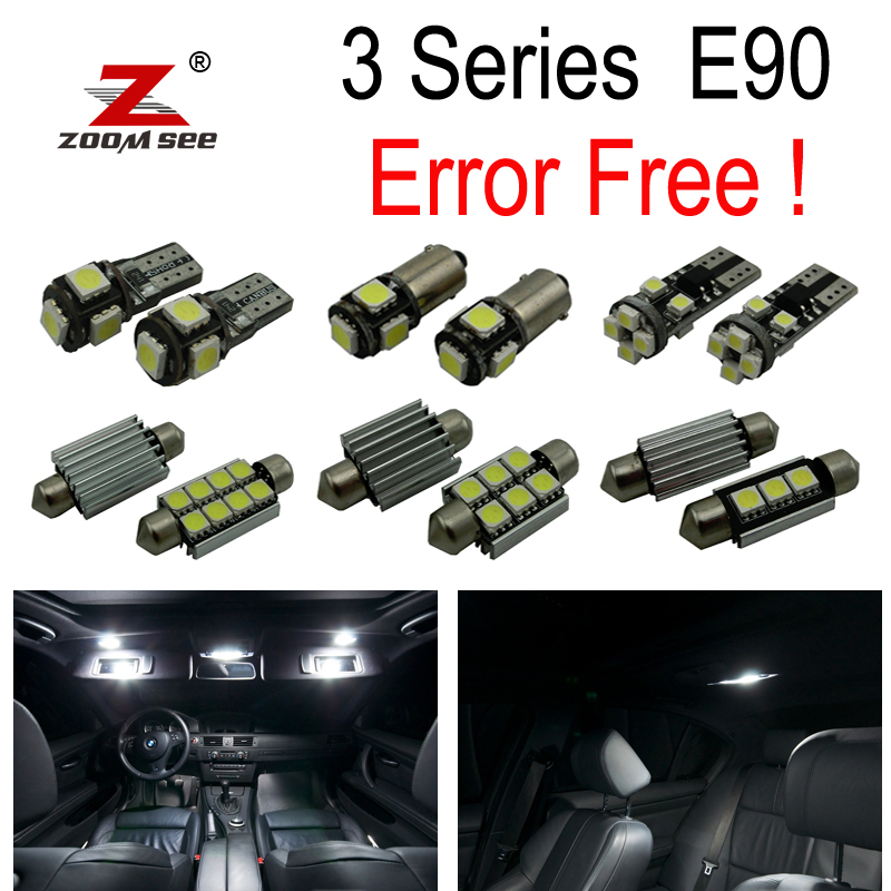 15pc X Canbus Error free E90 LED Interior Light Kit for bmw E90 320i 325i 328i 330i 335i M3 Sedan ONLY (2006-2012) canbus h7 led car headlight error free headlamp fog light for bmw e90 m3 m 320d 320i 318i 325i 328i 330d 330i 3 series 2005 2017