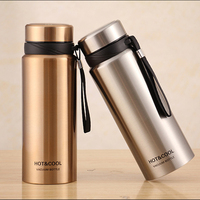 Hot 750ml Classic Water Bottles Thermal Insulation 304 Stainless Steel Direct Drinking With Rope Portable For Adults Applicable
