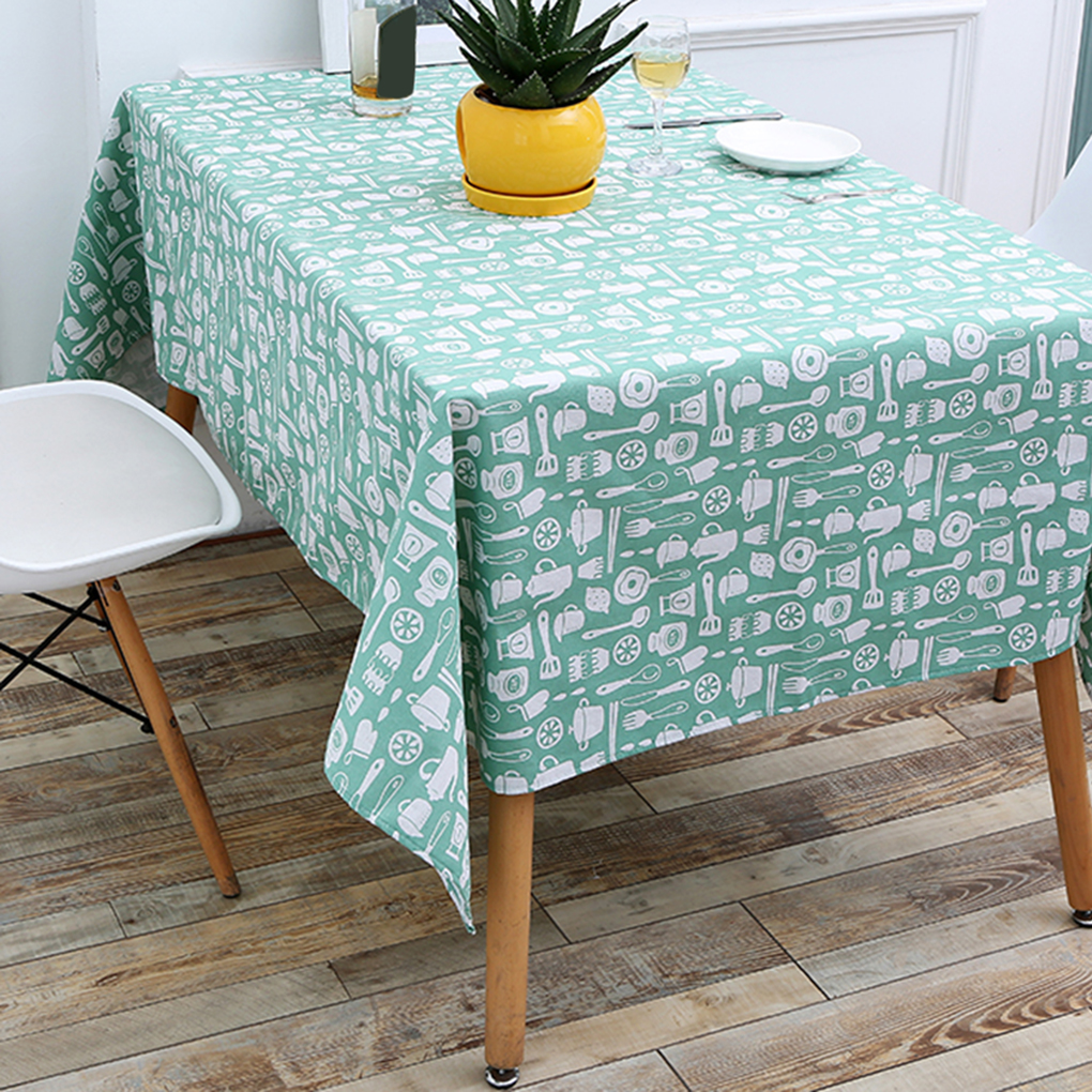 Dining Room Table Linens: Cotton Linen Fabric Rectangle Tablecloth Kitchenware