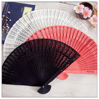 50pcs/100pcs Personalized custom wedding keepsake Luxurious timber Fold hand Fan+Party Favors/wedding Gifts