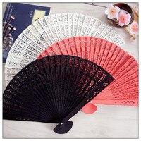 50pcs/100pcs Personalized custom wedding keepsake Luxurious timber Fold hand Fan+Party Favors/wedding Gifts