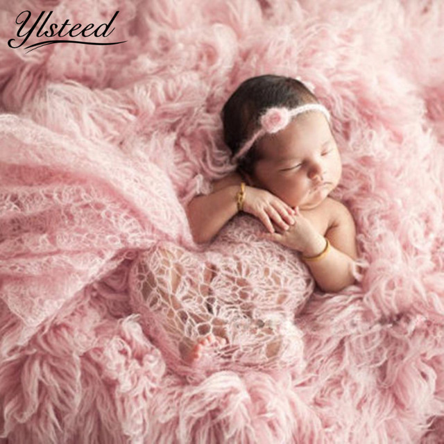 4080cm newborn crochet mohair wrap baby boy girl photography blanket knitted infant costume newborn