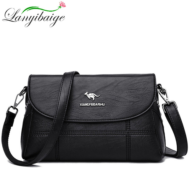 Luxury White Women Messenger Bags Female Leather Handbags Small Crossbody Bag For Women Shoulder Bags Famous Brand Designers New 2