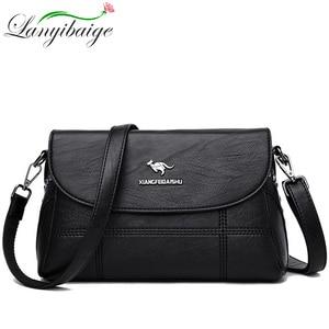 Image 2 - Luxury White Women Messenger Bags Female Leather Handbags Small Crossbody Bag For Women Shoulder Bags Famous Brand Designers New