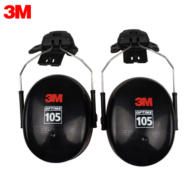 3M H10P3E Earmuffs Optime Earmuffs Hearing Conservation Anti-noise Hearing Protector for Drivers/Workers KU013 3m h6p3e cap mount earmuffs hearing conservation h6p3e ultra light with liquid foam filled earmuff cushions e111