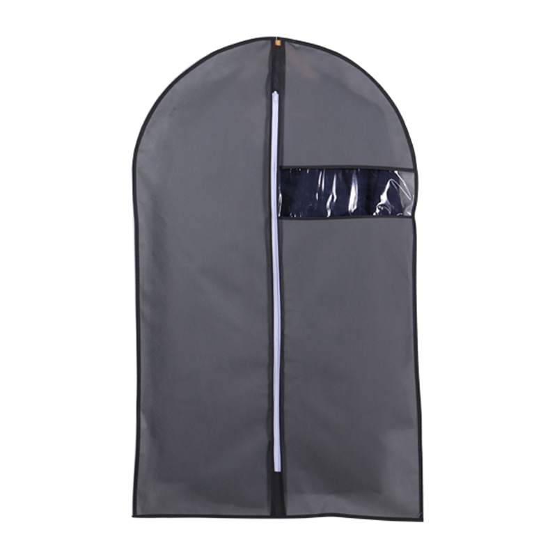 Clothes Dust Cover Non-woven Fabric Case For Household Hanging-type Coat Suit Protect Storage Bag Wardrobe Organizer JF011