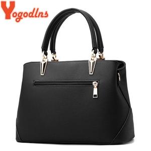 Image 3 - Yogodlns Women Bag Vintage Handbag Casual Tote Fashion Women Messenger Bags Shoulder Top Handle Purse Wallet Leather 2020 New