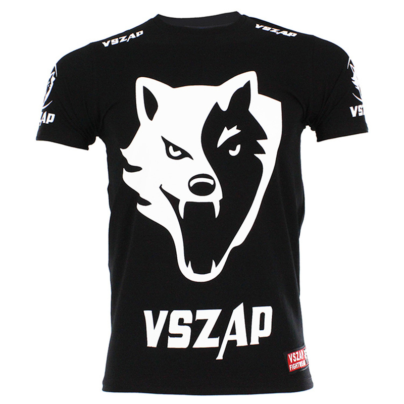 Classics VSZAP FIGHT T SHIRT MMA Jerseys Boxing Team TShirts Professional Boxing Cotton Tees