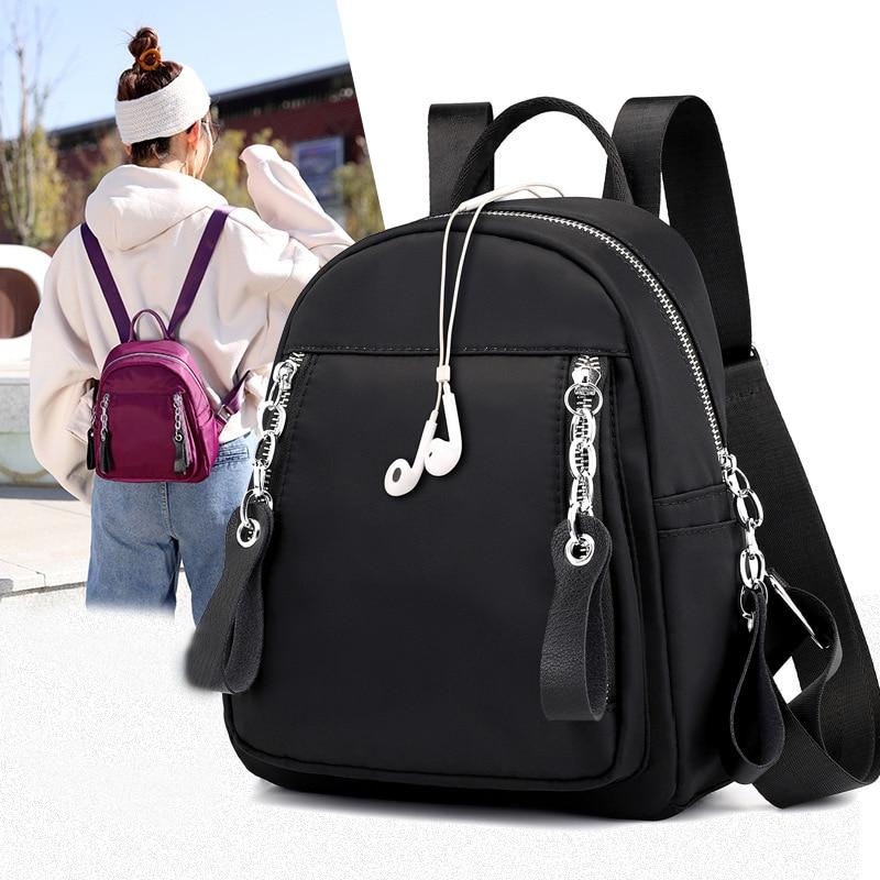 Fashion Women Backpack Waterproof Quality Nylon Backpacks Lady Daily Packs Casual Small Size Travel Shoulder Bag Bolsa Mochila