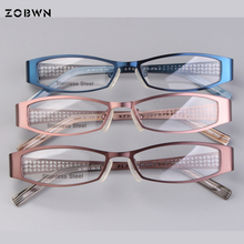 ZOBWN mix wholesale promotion full frame vintage Eyeglasses women men reading myopia glasses sqaure montures de lunette,