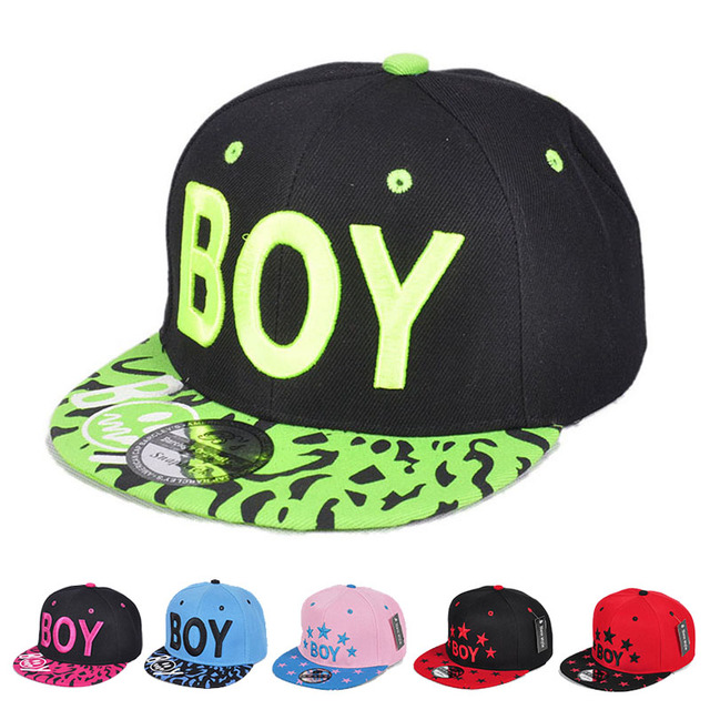 992e02e7528 Kids Adjustable Baseball Cap Spring Summer Baby Boys Girls Letter BOY Caps  Snapback Hip-Hop Hats for 3-8 years old children