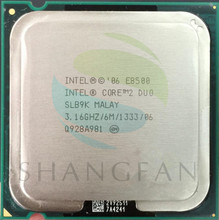 Free Shipping for Intel Core 2 Duo E8500 SLB9K CPU Processor (3.16Ghz/ 6M /1333GHz) Socket 775