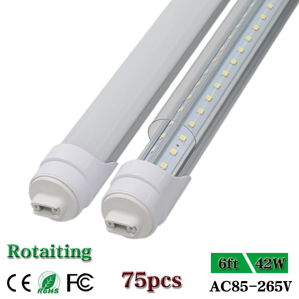 CNSUNWAY Adjustable Rotating R17D 6ft LED Tube Lights 180cm 1800mm V Shape Led Tube Light for Walking Cooler 75pcs