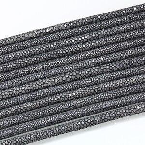 Image 5 - קסם דגי 6mm אמיתי Stingray חוטי עור DIY עור עור חבל בעבודת יד יוקרה צמידים & צמידי Drop bileklik