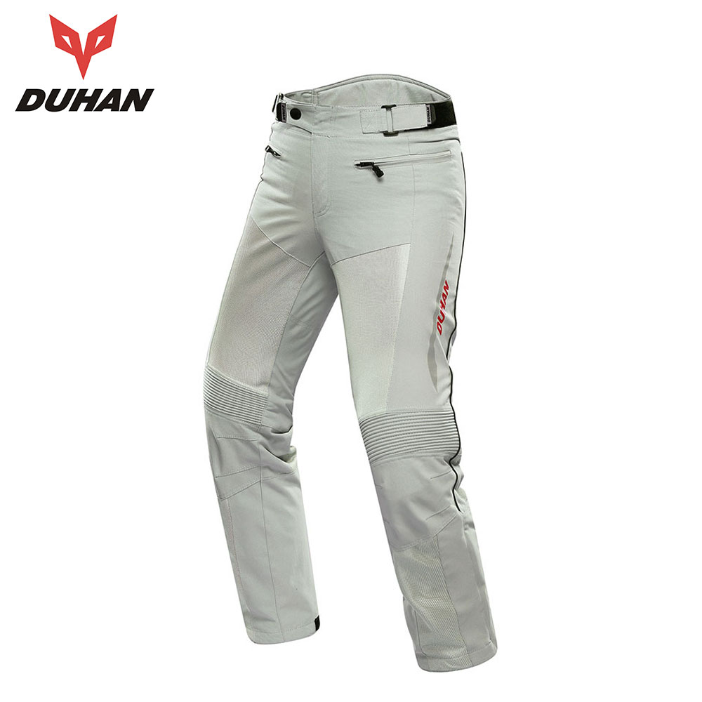 DUHAN Motorcycle Pants Moto Trousers Men Racing Off-road  Summer Mesh Motocross Pants Protective Gear With Pads Men's Pantalon