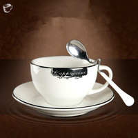 150 미리리터 우아한 뼈 중국 커피 컵 세라믹 컵 창조적 간단한 컵 세트 영어 차 컵 플레이트 및 숟가