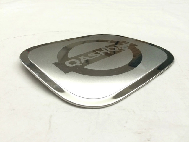 Car Styling Stainless Steel Fuel Tank Port Cover Sticker Oil Gas