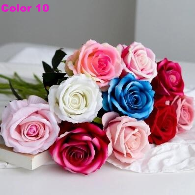 Simulation flower table flower single rose European restaurant decoration flower arrangement