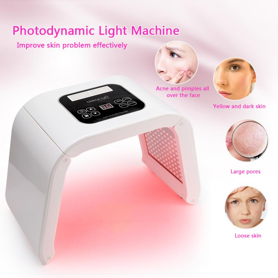 Overseas shipping 7 Color LED photon light therapy Beauty PDT lamp skin Regeneration Tighten Facial Acne