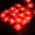 20 pcs Tailândia Tecido de Flanela Estrela de Cordas Luzes De Natal De Fadas Casamento Decoração Luminaria Luces Navidad Guirlande Guirlanda