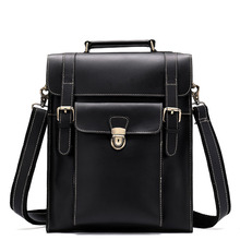 Vintage Men Hasp Backpack England Style Fashion Retro Crazy Horse Leather Backpacks Male Co
