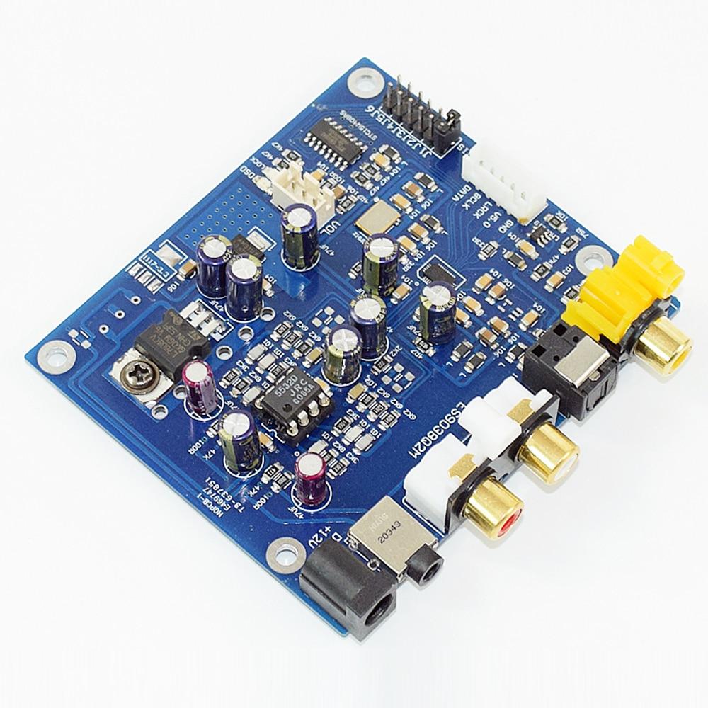 KGUSS M7A JRC55320 ES9038Q2M I2S DSD Optical Coaxial Input Decoder DAC Headphone Output Audio amplifier Board hi fi cm6631a 192khz to coaxial optical spdif convertor dac board 24bit usb 2 0
