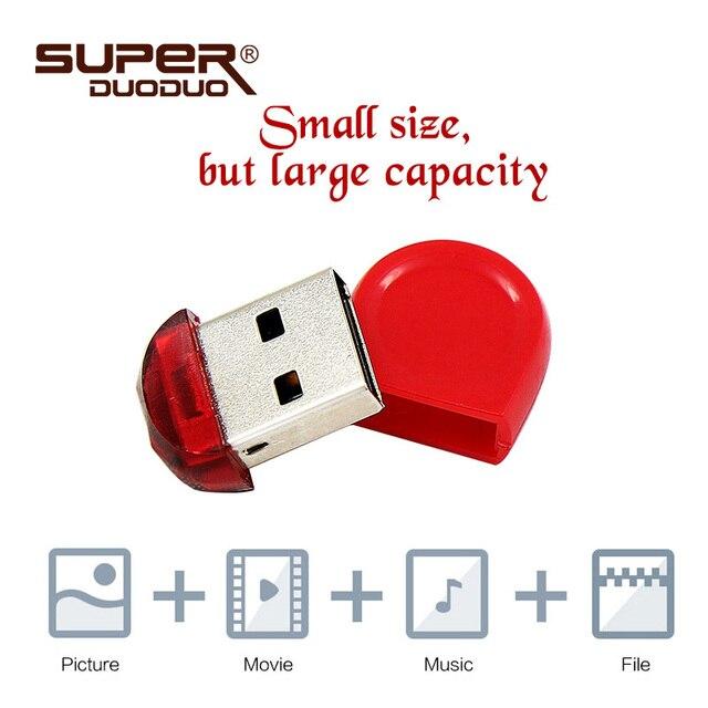 Alta Velocidad Mini USB Flash Drive 16 GB 32 GB pendrive 8 GB 4 GB USB Flash Drive U disco unidad de memoria para ordenador de 64 GB