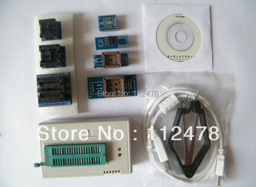 все цены на Free shipping 2018 New V7.21 XGECU MiniPro TL866CS TL866A TL866II Plus USB Universal Bios nand Programmer +8 IC adapters онлайн
