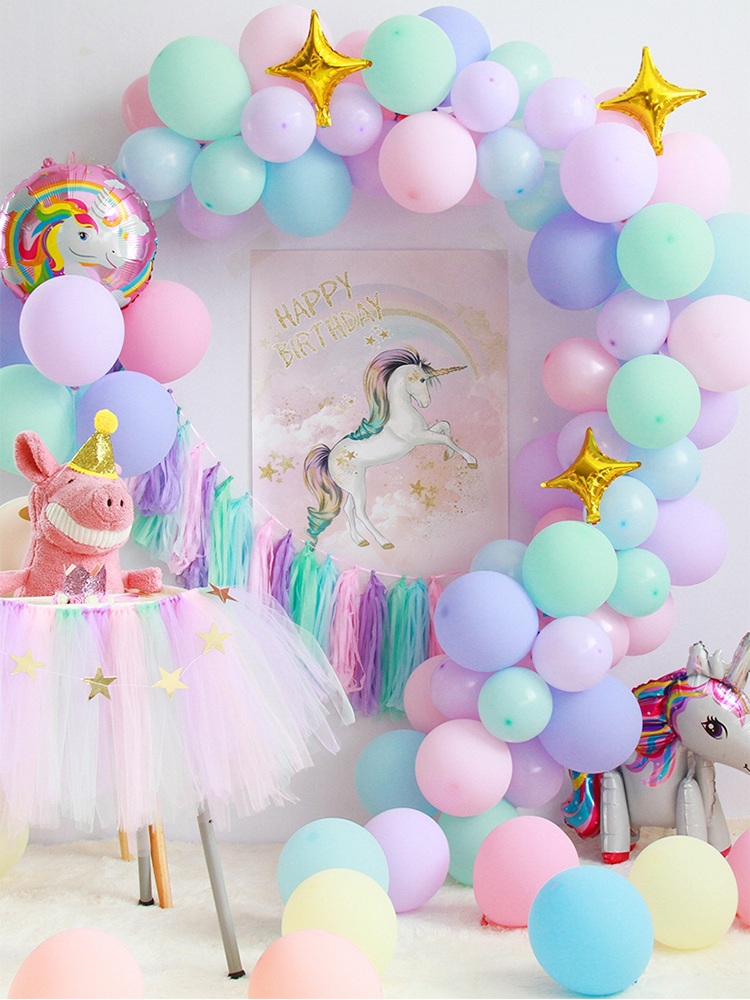Balloon-Garland Macaron-Balloons Latex Party-Decoration Pastel-Party Birthday Candy Wedding