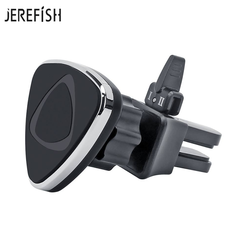 JEREFISH Car Phone Holder Magnetic Air Vent Mount Mobile Smartphone Stand Magnet Support Cell Cellphone Telephone Tablet GPS car seat