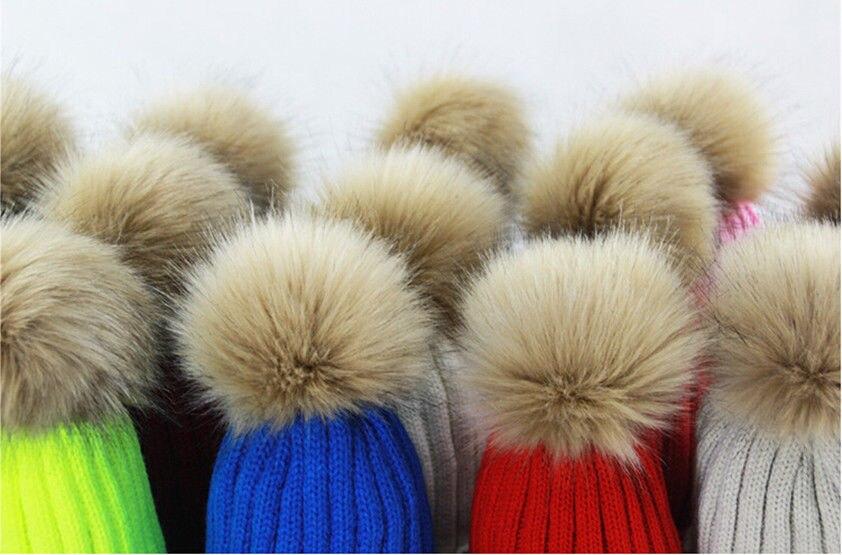 Women Hat Winter Raccoon Faux Fur Pom 15cm Ball Knit Beanie Ski Cap Bobble  Hat-in Skullies   Beanies from Apparel Accessories on Aliexpress.com  ecbe15e16f2