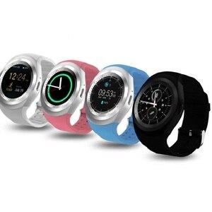 Image 3 - מפעל 2G Smartwatch 1.22 אינץ מלא עגול תצוגת sim יחיד nano sim Bluetooth SM01 חכם שעון ללא מצלמה