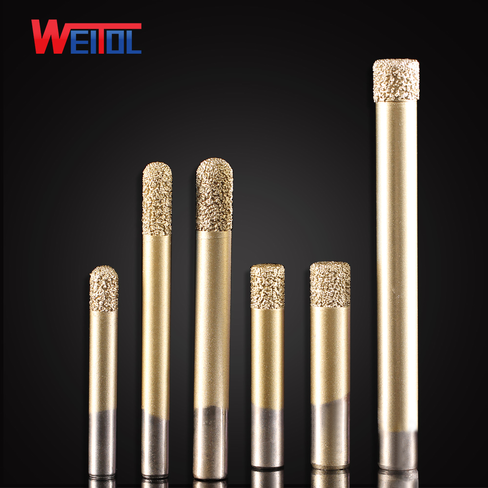 Weitol free shipping 6/8/12mm Brazing stone engraving bits marble granite router bits for CNC engraving machine carving tool free shipping 10pcs 6x25mm one flute spiral cutter cnc router bits engraving tool bits cutting tools wood router bits