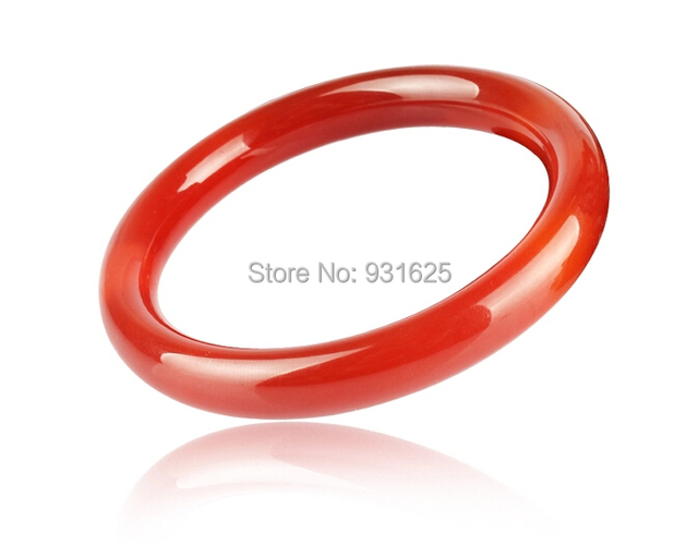 Rarely Natural Genuine Red Agate Round 9mm Wide Bangle Unique Veins Bracelet Bangles Woman's Jewelry 58-62mm