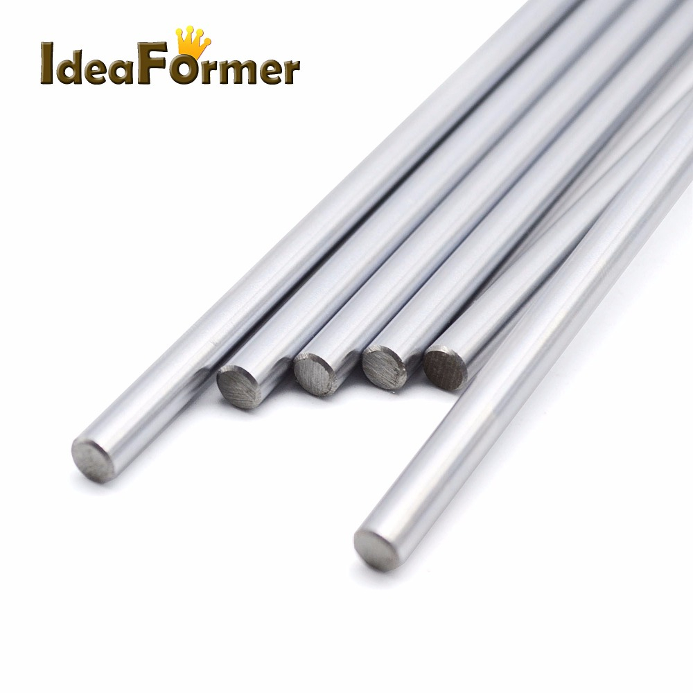 3D Printer Parts Smooth Shaft Rod Optical Axis Multiple Length Option 200 300 400 500mm CNC Chromed Stainless Steel Diameter 8mm